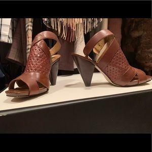 Franco Sarto Leather Sandals Sz 10